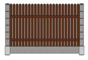 Штакетник вертикальный скругленный