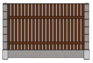 Штакетник вертикальный с дождевой планкой