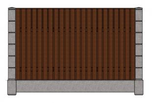 Штакетник + планка двурядный сплошной
