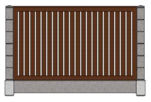Штакетник вертикальный с рамкой